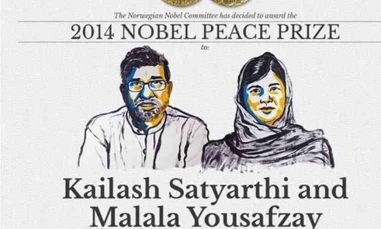 Νόμπελ Ειρήνης 2014: Κάιλας Σατιάρτι και Μαλάλα Γιουσαφζάι οι νικητές