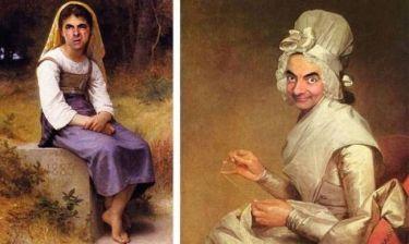 Ο Mr. Bean σε διάσημους πίνακες ζωγραφικής (pics)