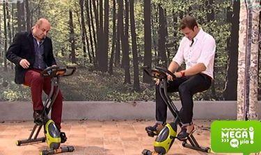 Mega Με Mία: Ο Σεφερλής κάνει ποδήλατο με τον Χολίδη!