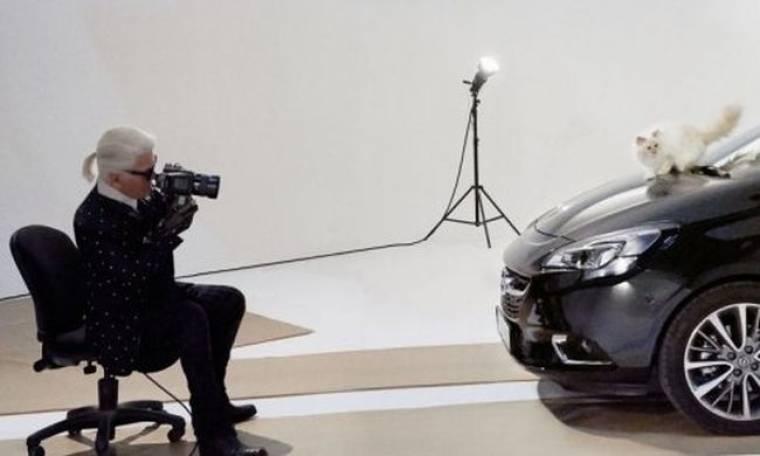 Το Corsa και η Choupette ποζάρουν για τον Karl Lagerfeld