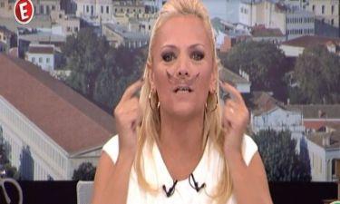 Χριστίνα Λαμπίρη: Έβαλε μουστάκι και «κάρφωσε» τον Παπαδάκη!