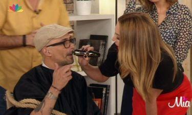 Η Τατιάνα του ξύρισε το μουστάκι on air! Η πρόκληση του Ουγγαρέζου και η απίστευτη ατάκα που είπε η παρουσιάστρια