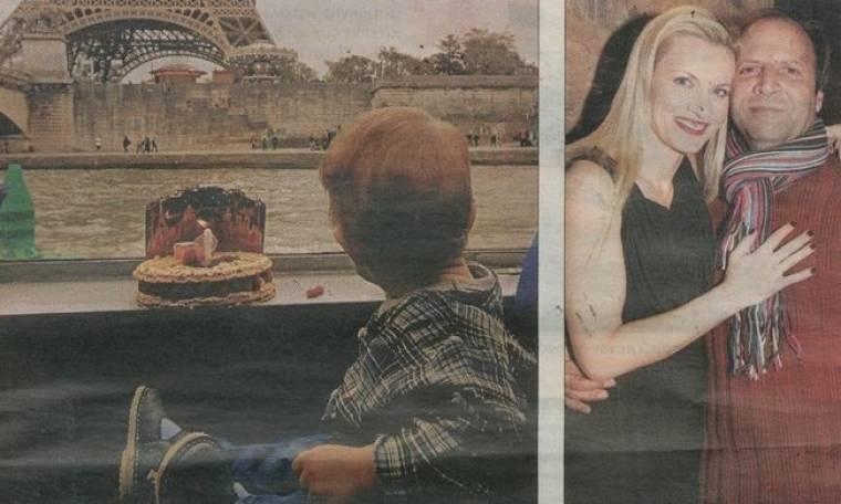 Αποστόλου-Πένσου: Με τον γιο τους στο Παρίσι