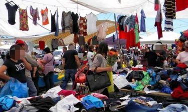 Ακριβοπληρωμένη Ελληνίδα παρουσιάστρια αγοράζει ρούχα από τη λαϊκή!