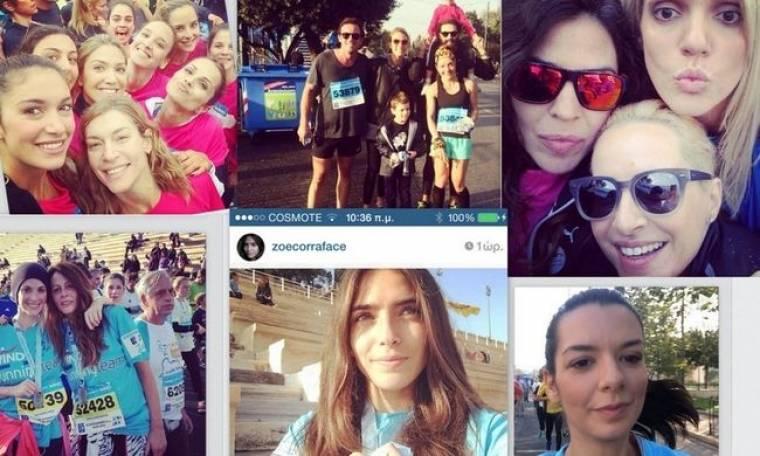 Μαραθώνιος 2014: Κοσμοσυρροή επωνύμων που έτρεξαν για καλό σκοπό (φωτό)