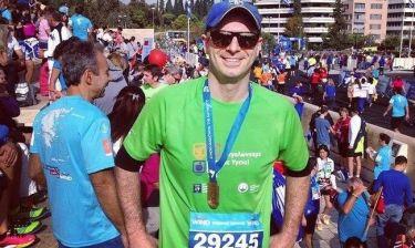 Μαραθώνιος 2014: Ο Αλέξανδρος Μπουρδούμης έτρεξε για καλό σκοπό!