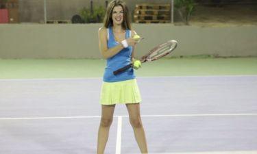 Ο Ανθόπουλος παίζει τένις με την Κλαψινού