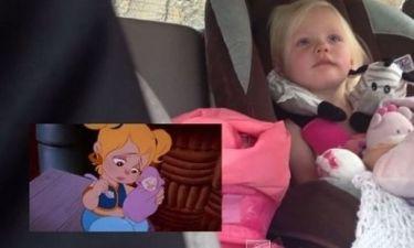 Συγκινητικό: Δείτε πώς νιώθει η μικρή όταν βλέπει κινούμενα σχέδια (βίντεο)