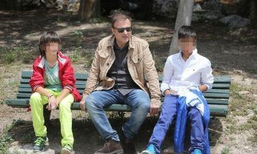 Χρήστος Φερεντίνος: «Απολαμβάνω τις ώρες με τα παιδιά μου»