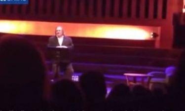 Gerard Depardieu: «Λιώμα» στη σκηνή