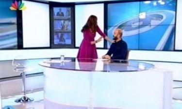 «Έμεινε» η Τσαπανίδου on air με απάντηση συναδέρφου της