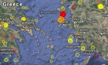 Νέος ισχυρός σεισμός στη Μυτιλήνη