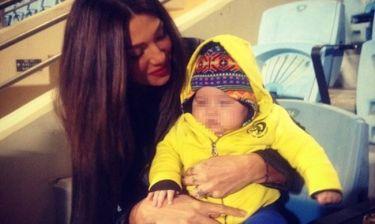 Αγγελική Ηλιάδη: Με τον γιο της στο γήπεδο για να δουν αγώνα του Γκέντσογλου