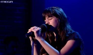 Μαρίνα : «Άνθρωπο μονάχοι» τραγούδησε στον τελικό