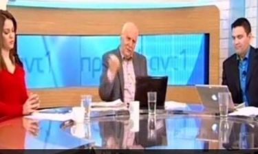 Η άσεμνη χειρονομία του Παπαδάκη on air