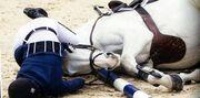 Αθηνά Ωνάση: Ξέσπασε σε λυγμούς με τον τραυματισμό του αλόγου της