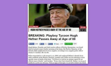 Πέθαναν τον Hugh Hefner