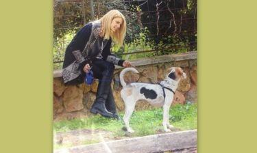 Ζέτα Μακρυπούλια: Βόλτα στην Γλυφάδα με την σκυλίτσα της