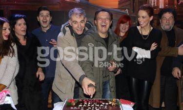 Έκοψαν την Πρωτοχρονιάτικη πίτα τους στο θέατρο Βέμπο!