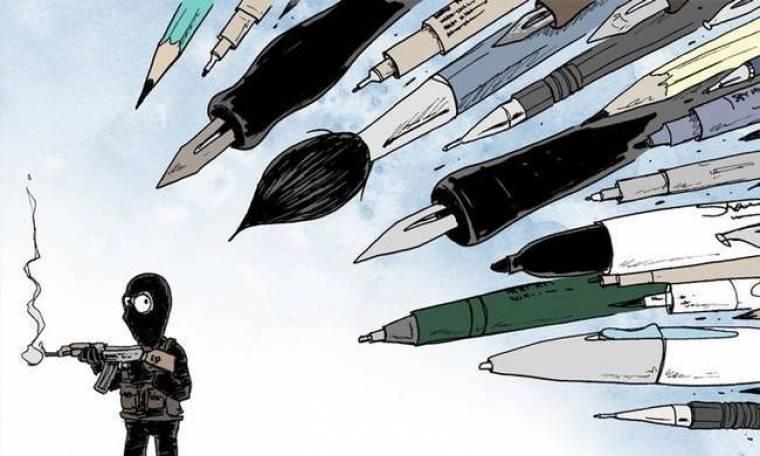 Charlie Hebdo: Η πένα είναι ισχυρότερη από το σπαθί... (photos)