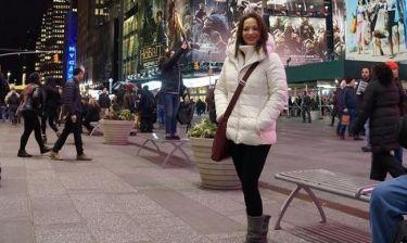 Δείτε την Μάρω Λύτρα να κάνει βόλτα με τον σύντροφο της στη Νέα Υόρκη