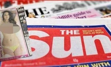 «Sun»: Γυμνόστηθες stop στη σελίδα τρία