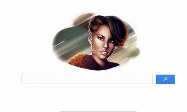 Η google τιμά την Alicia Keys για τα γενέθλιά της