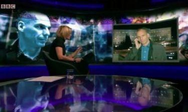 On air καβγάς του Βαρουφάκη με παρουσιάστρια εκπομπής του ΒΒC