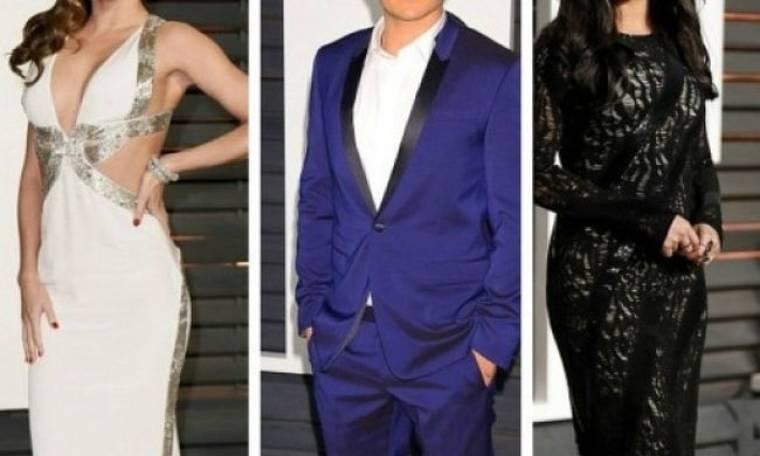 Η αμήχανη στιγμή των Oscars: Διάσημο ερωτικό τρίγωνο έπεσε μούρη με μούρη στο ίδιο πάρτι