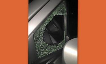 Με σπασμένο τζάμι αυτοκινήτου για δεύτερη φορά η…