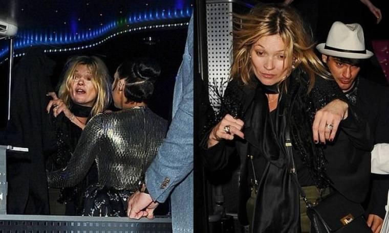 Σε κακά χάλια η Kate Moss για ακόμη μία φορά σε έξοδό της! (φωτό)