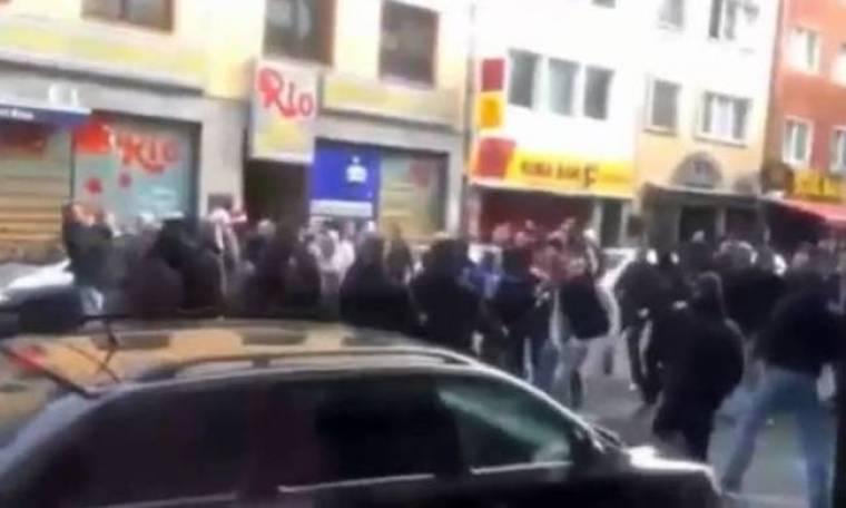 Γερμανία: Τρελό ξύλο στους δρόμους από οπαδούς Κολωνίας και Φρανκφούρτης (videos)
