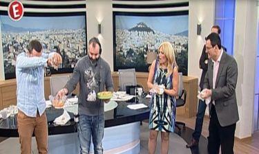 Ρώσικη Ρουλέτα με αβγά... στην εκπομπή της Χριστίνας Λαμπίρη - Δείτε τι έγινε!