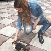 Δέσποινα Βανδή: Απολαμβάνει τις ομορφιές της Θεσσαλονίκης! (φωτό)