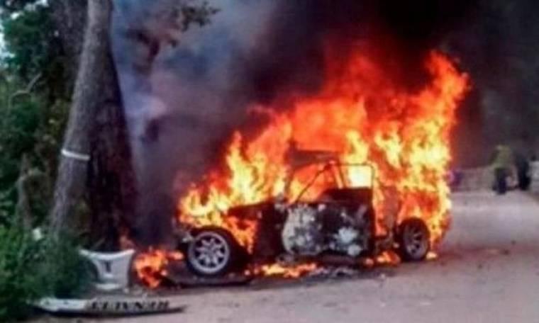 Σοκ! Κάηκε ζωντανός συνοδηγός στο Ράλι της Μαγιόρκα