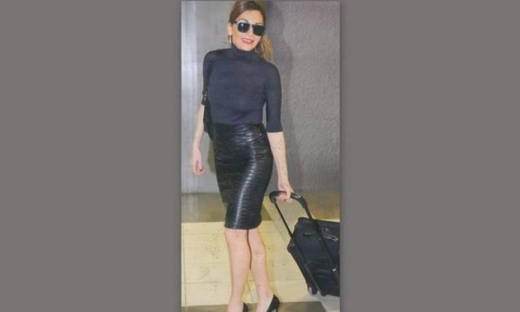 Η υπέρκομψη ταξιδιώτισσα Δέσποινα Βανδή
