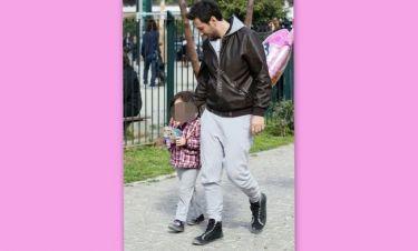 Πάνος Καλίδης: Βόλτα με την κόρη του, Νίνα