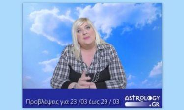 Οι προβλέψεις της εβδομάδας 23-29/3 σε video, από τη Μπέλλα Κυδωνάκη