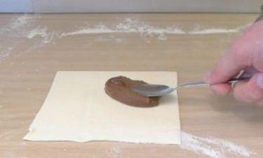 Πήρε την Nutella και ένα κομμάτι ζύμης και έφτιαξε κάτι μοναδικό σε 1 λεπτό! (video)
