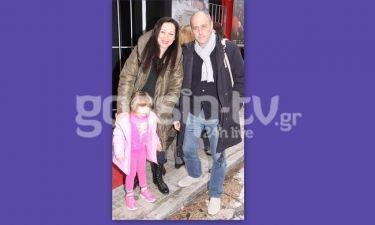Άννα Μιχαήλου: Στο θέατρο με τον σύζυγο και την κόρη τους