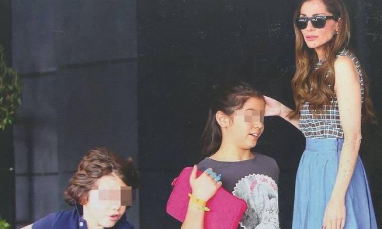 Δέσποινα Βανδή: Στη Θεσσαλονίκη με τα παιδιά της