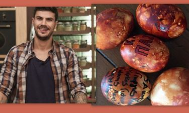 Βάψτε αυγά με φυσικό τρόπο με την βοήθεια του Άκη Πετρετζίκη