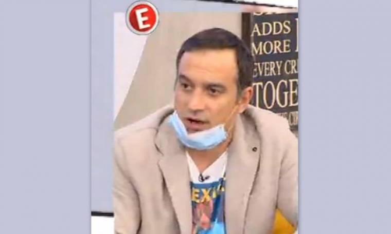 Αυτό δεν έχει ξανασυμβεί στην ελληνική TV: Στην εκπομπή με ιατρική μάσκα ο Κρατερός!