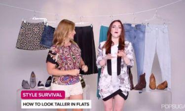 6+1 tips για να φαίνεσαι ψηλότερη, φορώντας φλατ παπούτσια!