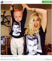 Άννα Βίσση: Φόρεσε την ίδια μπλούζα με τον εγγονό της! (φωτό)