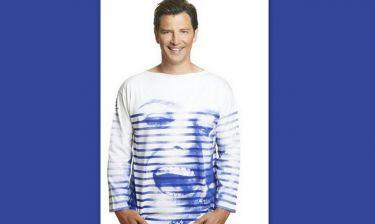 Σάκης Ρουβάς: Με συλλεκτική μπλούζα «Μελίνα Μερκούρη» από τον Jean Paul Gaultier