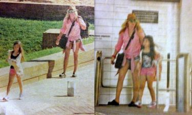Γωγώ Μαστροκώστα: Στη θάλασσα με την κόρη της Βικτώρια