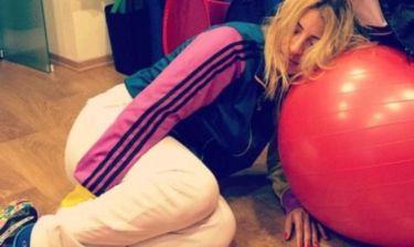 Η Ηλιάκη αποκοιμήθηκε την ώρα της γυμναστικής!