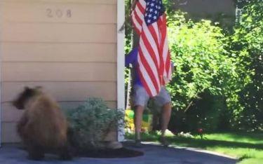 Και όμως! Ένας άνθρωπος μπορεί να τρομάξει μια… αρκούδα! (video)