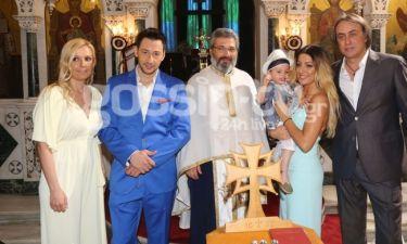 O Πάνος Καλίδης βάφτισε τον γιο του